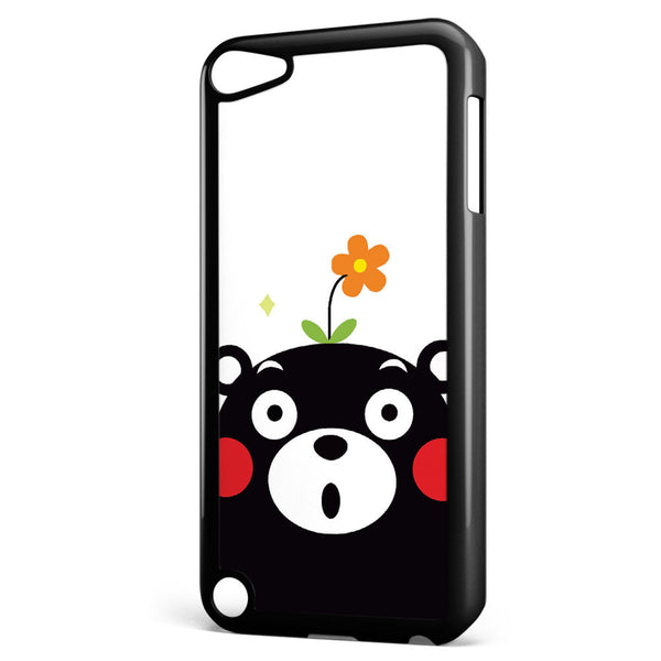 Cute Kumamon with Flower Apple iPod Touch 5 Case Cover ISVA493