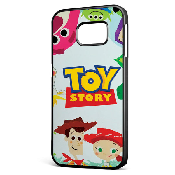 Cute Toy Story Characters Samsung Galaxy S6 Edge Case Cover ISVA040