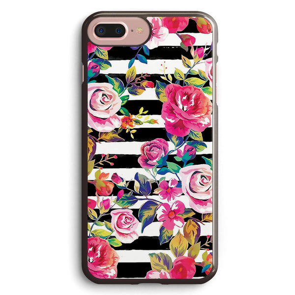 Cute Spring Floral and Stripes Watercolor Pattern Apple iPhone 7 Plus Case Cover ISVD904