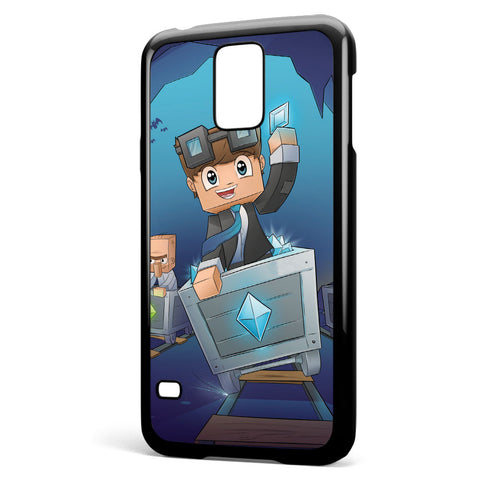 Dantdm the Diamond Minecart Samsung Galaxy S5 Case Cover ISVA545