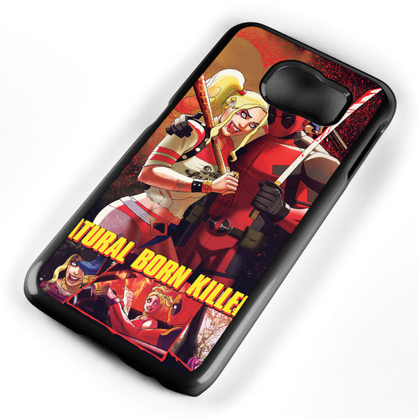 Deadpool and Harley Quinn Natural Born Killers Samsung Galaxy S6 Case Cover ISVA440