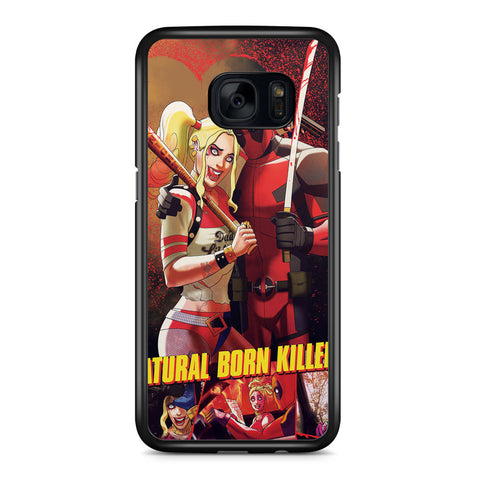 Deadpool and Harley Quinn Natural Born Killers Samsung Galaxy S7 Edge Case Cover ISVA440