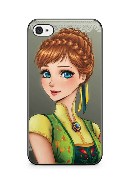 Disney Princess Anna Anime Apple iPhone 4 / iPhone 4S Case Cover ISVA167
