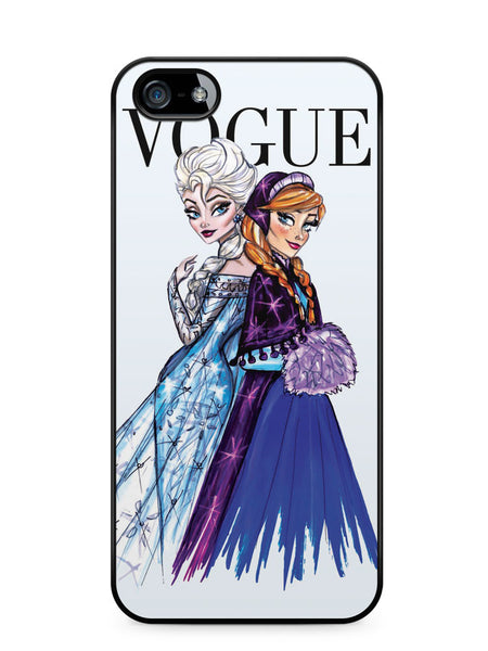 Disney Princess Elsa and Anna Vogue Apple iPhone SE / iPhone 5 / iPhone 5s Case Cover  ISVA575