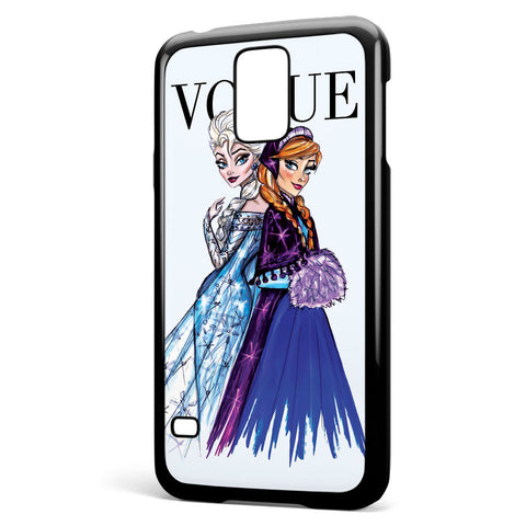 Disney Princess Elsa and Anna Vogue Samsung Galaxy S5 Case Cover ISVA575