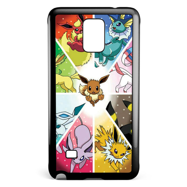 Eevee Evolution Pokemon Samsung Galaxy Note 4 Case Cover ISVA263