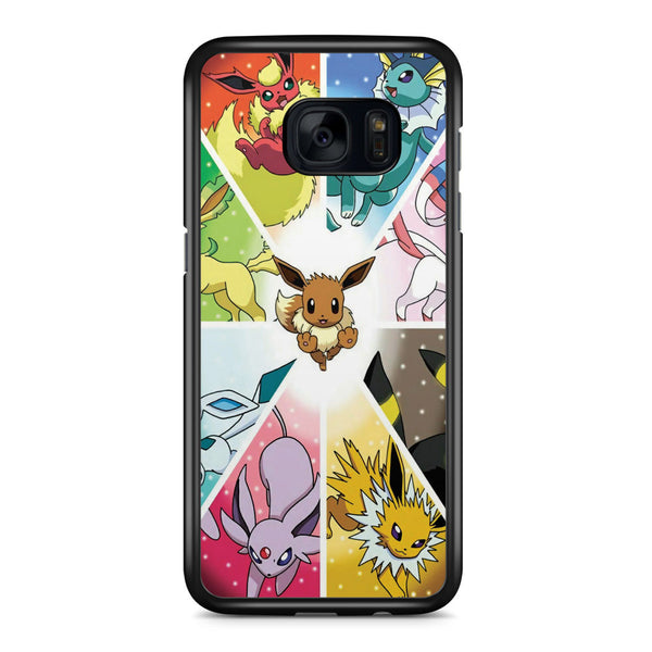 Eevee Evolution Pokemon Samsung Galaxy S7 Edge Case Cover ISVA263