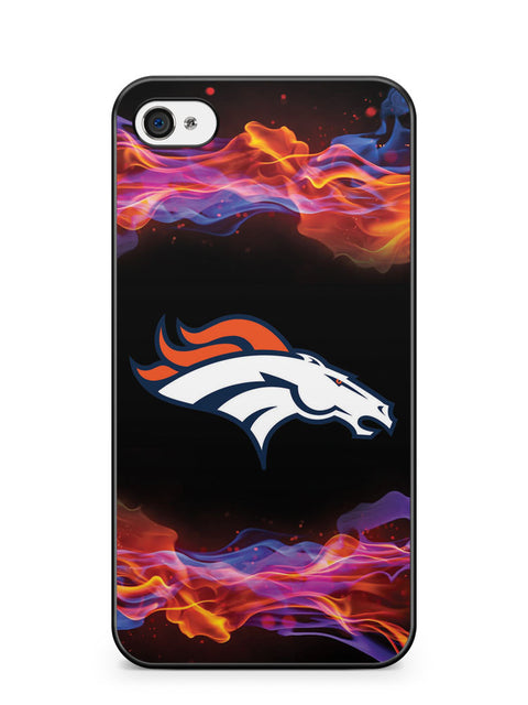 Flame Denver Broncos Apple iPhone 4 / iPhone 4S Case Cover ISVA512
