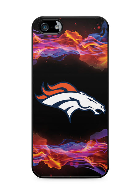 Flame Denver Broncos Apple iPhone 5c Case Cover ISVA512