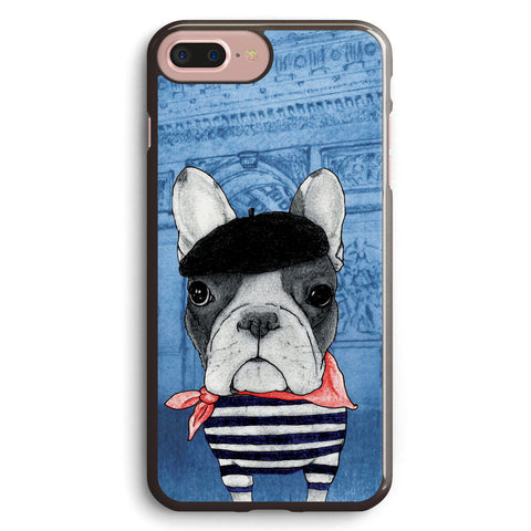 Frenchie with Arc De Triomphe Apple iPhone 7 Plus Case Cover ISVB550