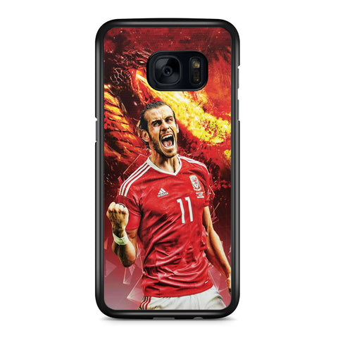 Gareth Bale on Fire Samsung Galaxy S7 Edge Case Cover ISVA142