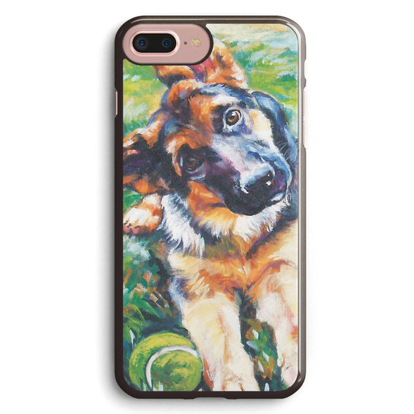German Shepherd Fine Art Painting Apple iPhone 7 Plus Case Cover ISVD377