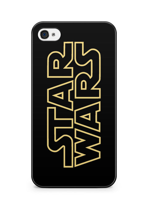 Golden Star Wars Logo Apple iPhone 4 / iPhone 4S Case Cover ISVA216