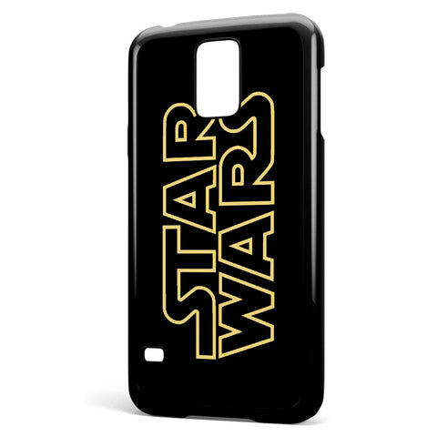 Golden Star Wars Logo Samsung Galaxy S5 Case Cover ISVA216