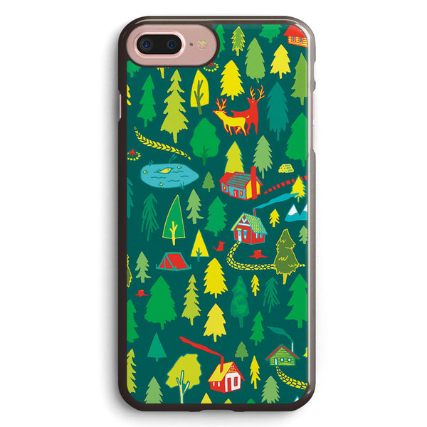 Green Forest Pattern Apple iPhone 7 Plus Case Cover ISVD404