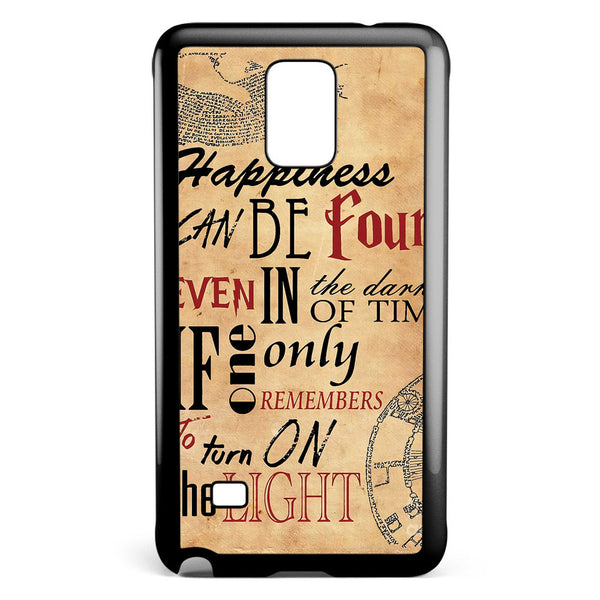 Happiness Can Be Found in the Darkest Samsung Galaxy Note 4 Case Cover ISVA323