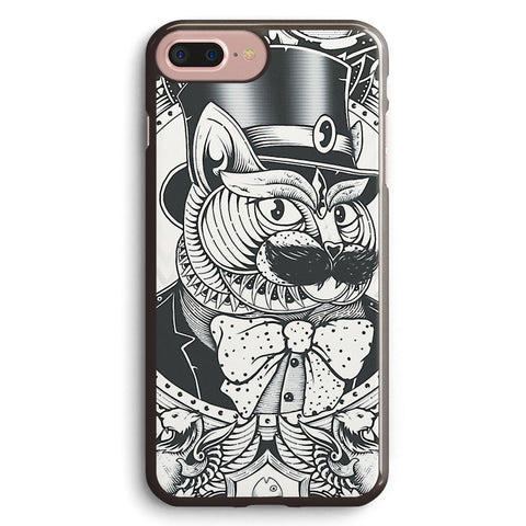 Hipster Mustache Cat Apple iPhone 7 Plus Case Cover ISVA968