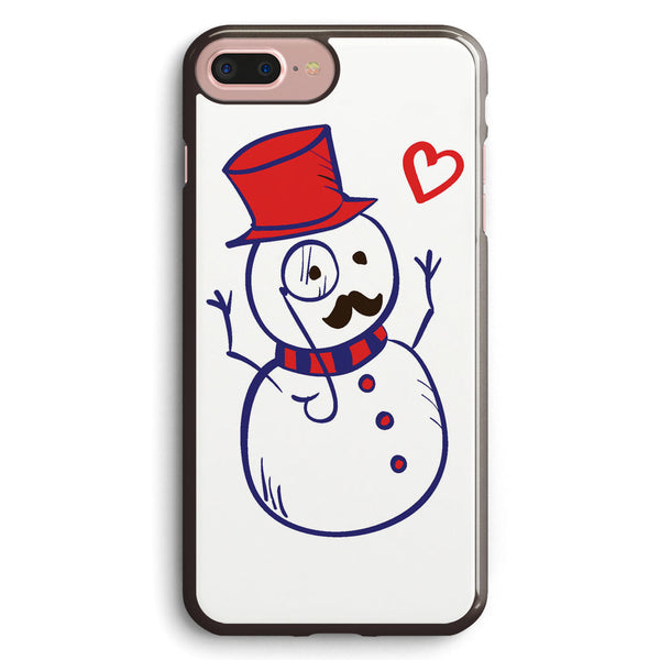 Hipster Snowman Apple iPhone 7 Plus Case Cover ISVB594