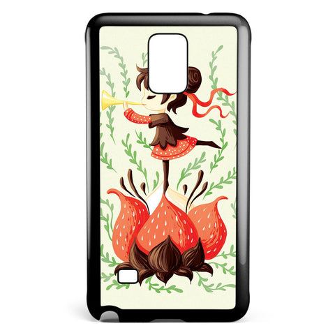 Japanese Art Spring Melody Samsung Galaxy Note 4 Case Cover ISVA540