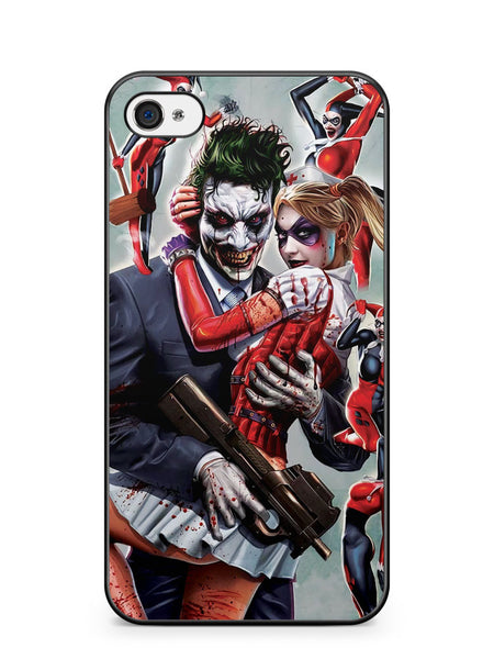 Joker and Harley Quinn Customes Apple iPhone 4 / iPhone 4S Case Cover ISVA144