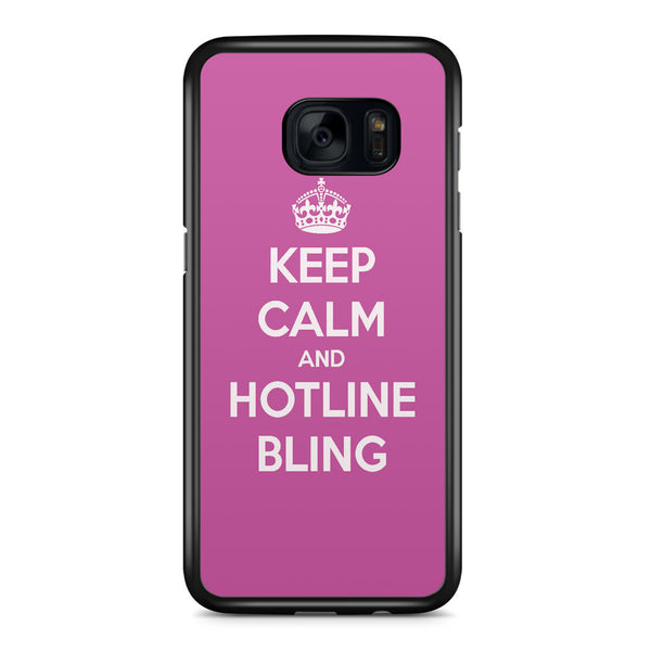 Keep Calm and Hotline Blings Samsung Galaxy S7 Edge Case Cover ISVA061