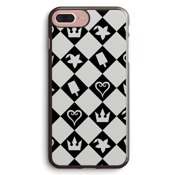 Kingdom Hearts Checkered Pattern with Symbols Apple iPhone 7 Plus Case Cover ISVB017