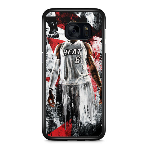 Lebron James Miami Heat Samsung Galaxy S7 Edge Case Cover ISVA563