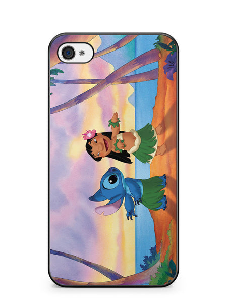 Lilo and Stitch Hawaii Apple iPhone 4 / iPhone 4S Case Cover ISVA315