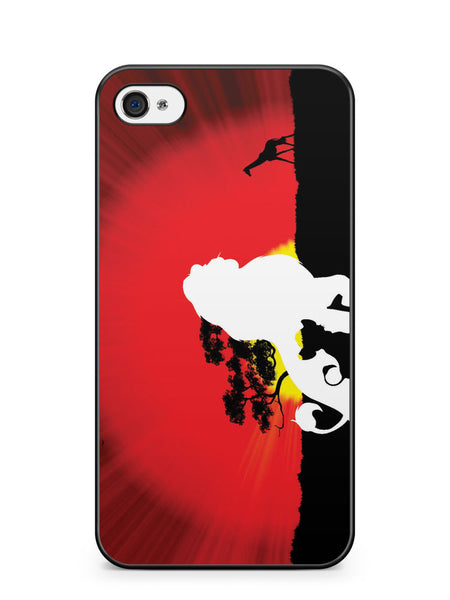 Lion King Simba Silhouette Apple iPhone 4 / iPhone 4S Case Cover ISVA066