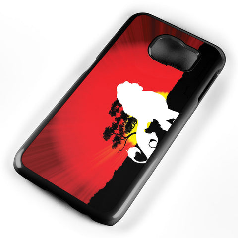 Lion King Simba Silhouette Samsung Galaxy S6 Case Cover ISVA066