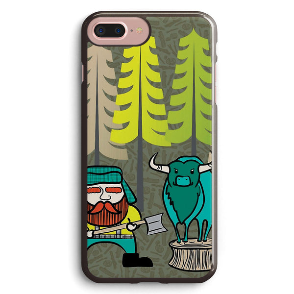 Lumberjack Attack Paul and Babe Apple iPhone 7 Plus Case Cover ISVE624