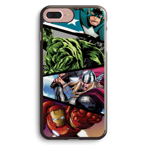 Marvel's Superheroes in Action Apple iPhone 7 Plus Case Cover ISVA218