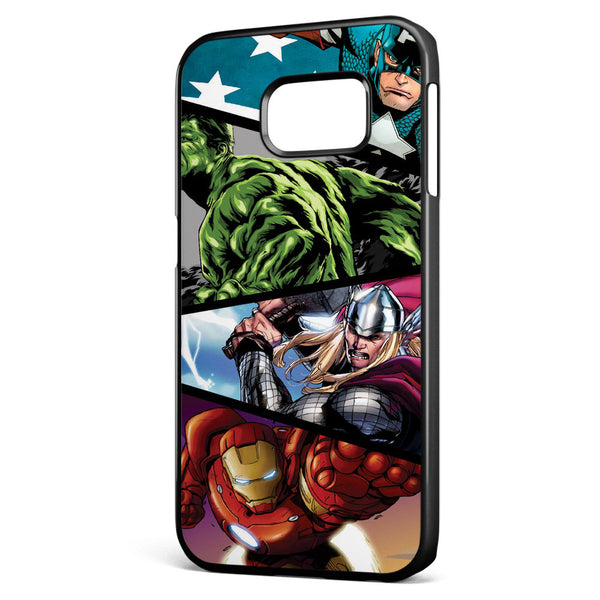 Marvel's Superheroes in Action Samsung Galaxy S6 Edge Case Cover ISVA218