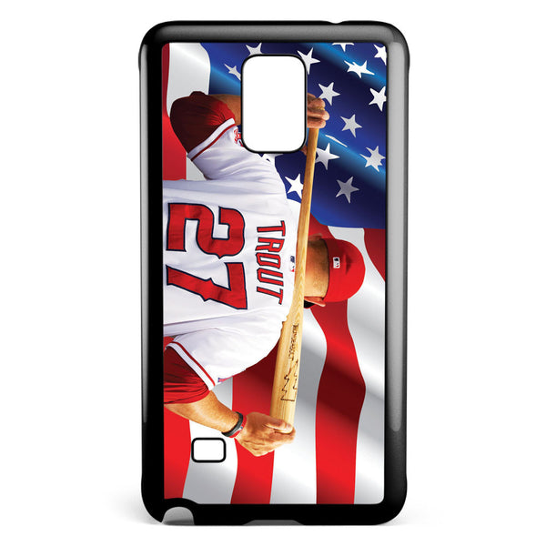 Mike Trout Los Angeles Angels Anaheim Samsung Galaxy Note 4 Case Cover ISVA224