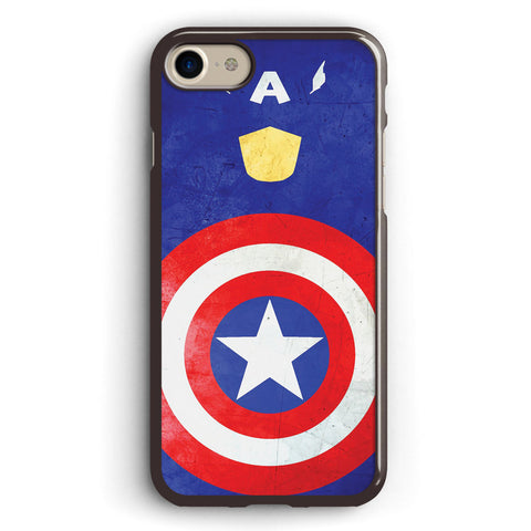 Minimalist Captain America Apple iPhone 7 Case Cover ISVA327