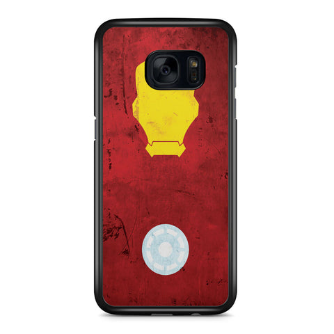 Minimalist Iron Man Samsung Galaxy S7 Edge Case Cover ISVA333