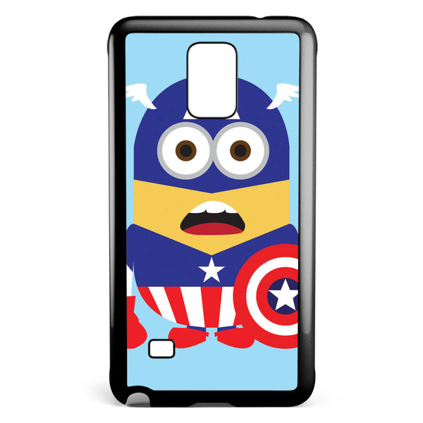 Minions Captain America Samsung Galaxy Note 4 Case Cover ISVA547