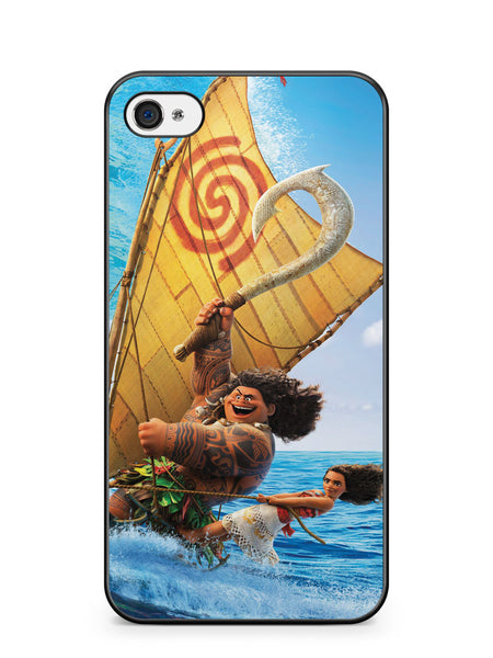 Moana and Maui Surfing Apple iPhone 4 / iPhone 4S Case Cover ISVA458