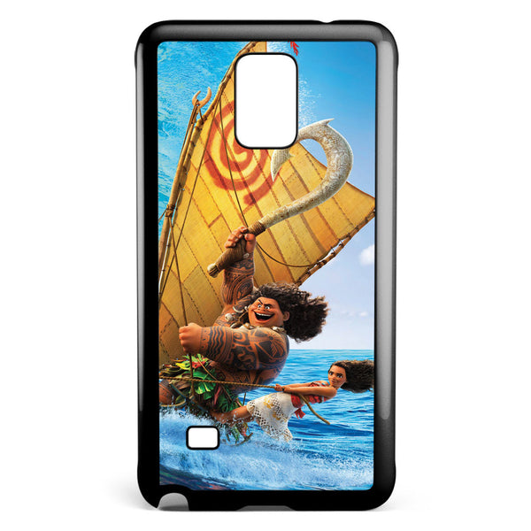 Moana and Maui Surfing Samsung Galaxy Note 4 Case Cover ISVA458