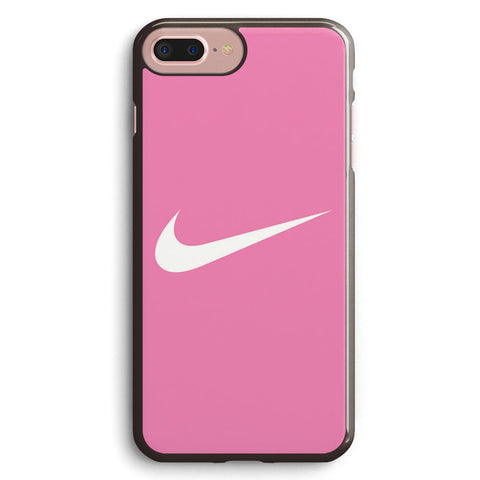 Nike Logo Pink Background Apple iPhone 7 Plus Case Cover ISVA262