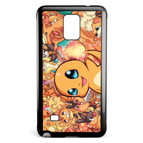 Pokemon Charmander Party Samsung Galaxy Note 4 Case Cover ISVA346