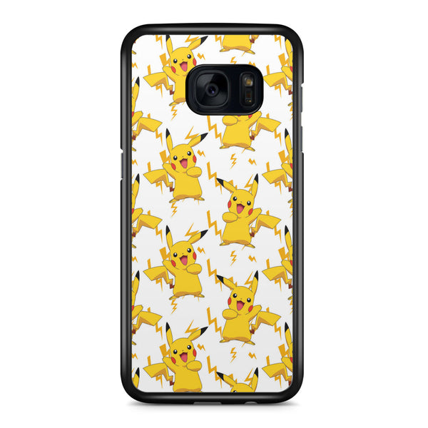 Pokemon Pikachu Pattern Samsung Galaxy S7 Edge Case Cover ISVA074