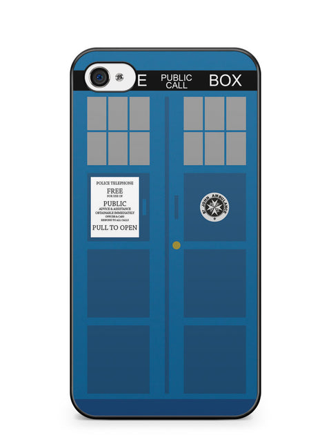 Police Box Doctor Who Apple iPhone 4 / iPhone 4S Case Cover ISVA513