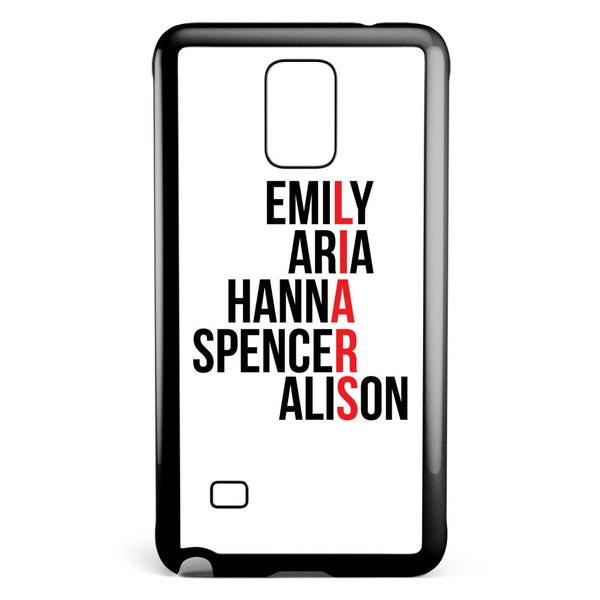Pretty Little Liars Character's Names Samsung Galaxy Note 4 Case Cover ISVA108