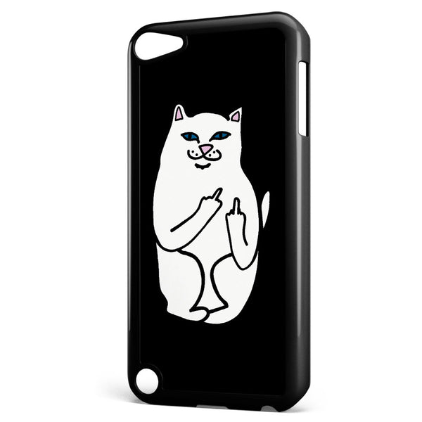 Ripndip White Cat with Middle Finger Apple iPod Touch 5 Case Cover ISVA496