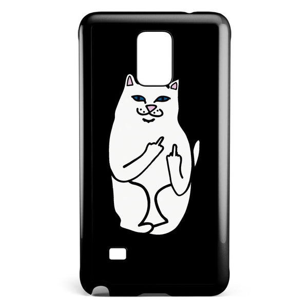 Ripndip White Cat with Middle Finger Samsung Galaxy Note 4 Case Cover ISVA496