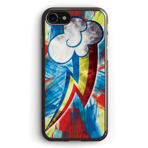 Rainbow Dash Fractal Flame Effect Apple iPhone 7 Case Cover ISVG265