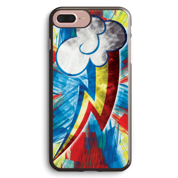 Rainbow Dash Fractal Flame Effect Apple iPhone 7 Plus Case Cover ISVG265