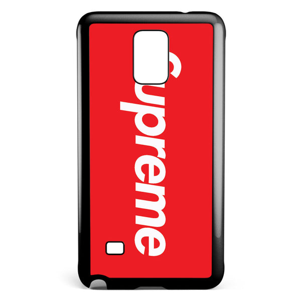 Red Supreme Logo Samsung Galaxy Note 4 Case Cover ISVA282
