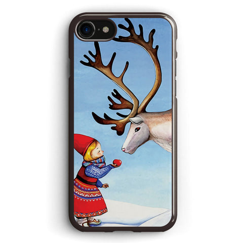 Reindeer Girl Apple iPhone 7 Case Cover ISVD634